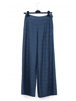 Wool Blue Pants | DIEGO ZORODDU